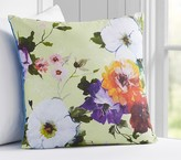 Pottery Barn Kids Decorator Floral Decorative Pillow, 18x18 Inches, Lime Green