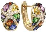Effy Jewelry Effy Watercolors 14K Yellow Gold Sapphire & Diamond Earrings, 3.01 TCW
