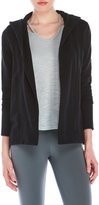 James Perse Open Front Hooded Cardigan
