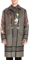 Givenchy Heavy Metal Printed Wool Overcoat