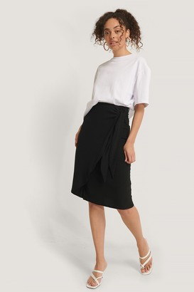 NA-KD Tie Side Midi Skirt