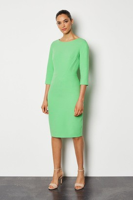 Karen Millen Seam Detail 3/4 Sleeve Tailored Dress