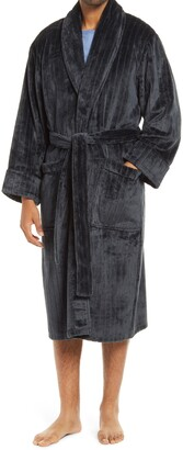 Daniel Buchler Stripe Cut Velour Robe