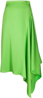 Escada Asymmetric Draped Skirt