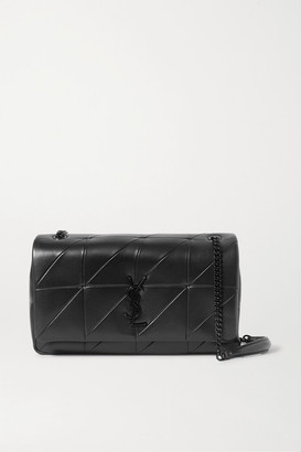 Saint Laurent Jamie Medium Paneled Leather Shoulder Bag - Black
