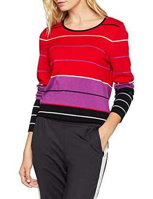 Gerry Weber Women's Pullover 1/1 Arm Jumper, Multicolour (Schwarz/Sand/Rot 1115), (Size: 36)