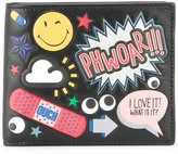 Anya Hindmarch all over stickers wallet - men - Calf Leather - One Size