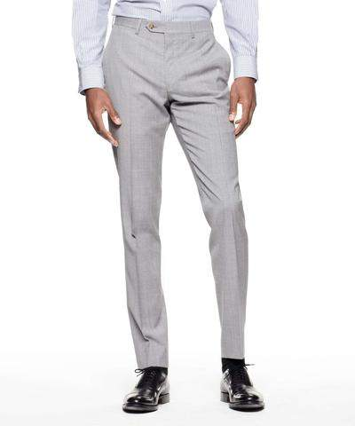 Todd Snyder Black Label Sutton Suit Pant in Italian Grey Windowpane Tropical Wool