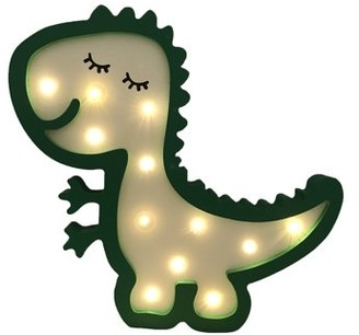 Creative Motion Dinosaur Light, Night Light, Shop Light, MDF Sturdy Frame, Kids Lamp, Dinosaur , Night lamp, Desk-top or Wall Mount;Product Size: 12.75x 11.5 x 1.2