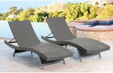 Abbyson Living® Palermo Outdoor Wicker Adjustable Chaises in Grey (Set of 2)