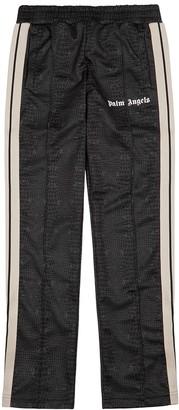 Palm Angels Croco Brown Printed Jersey Sweatpants