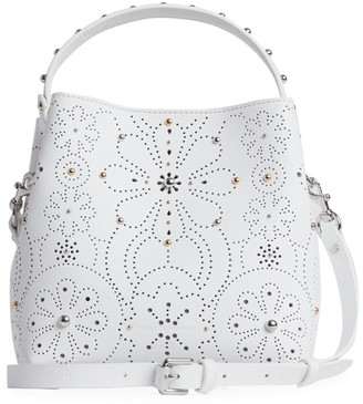 Rebecca Minkoff Perforated Leather Top Handle Bag