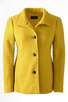 Lands' End Women's Tall Boiled Wool Jacket-Coral Orange