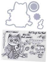 Little Darlings Art-Z Hooty Owl Stamps and Dies