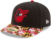 New Era Men's Black Baltimore Orioles Turn Back the Clock Throwback Low Profile 59FIFTY Fitted Hat