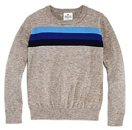 Aqua Madeleine Thompson x Girls' Stripe-Front Sweater, Big Kid - 100% Exclusive