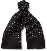 Polo Ralph Lauren Polka-Dot Linen and Cotton-Blend Scarf