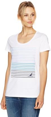 Nautica Women's Short Sleeve Graphic Tshirt