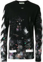 Off-White galaxy brushed long sleeved T-shirt