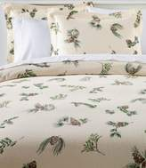 L.L. Bean L.L.Bean Ultrasoft Comfort Flannel Comforter Cover Collection, Evergreen