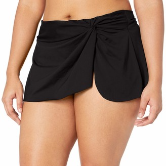 Anne Cole Women's Plus-Size Sarong Skirted Bikini Swim Bottom