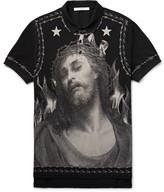 Givenchy Printed Cotton-Piqué Polo Shirt