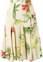 Isolda - midi floral A-line skirt - women - Silk - 40