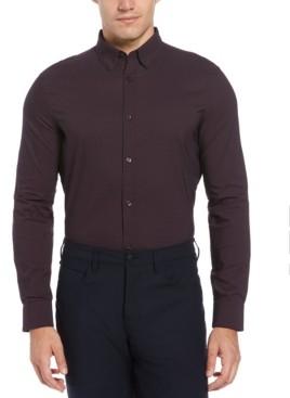 Perry Ellis Men's Slim Fit Check Long Sleeve Button-Down Stretch Shirt