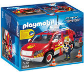 Playmobil NEW Fire Chief's Car with Lights and Sound