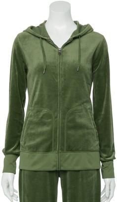 Tek Gear Women's Hooded Velour Jacket