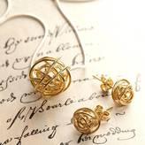 Otis Jaxon Silver Jewellery Gold Nest Necklace On Snake Chain