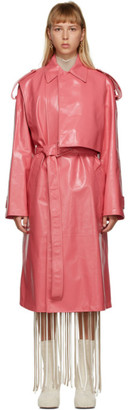 Bottega Veneta Pink Shiny Trench Coat