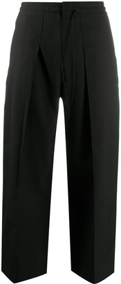 Y-3 Cropped Wide Leg Trousers
