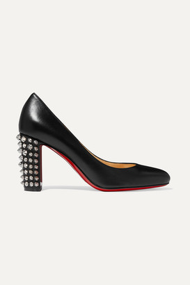 Christian Louboutin Marimalus 85 Studded Leather Pumps - Black