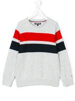 Tommy Hilfiger Junior - striped sweater - kids - Cotton - 3 yrs