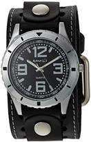Nemesis Men's STH096K Black Collection Stainless Steel Watch with Black Leather Band