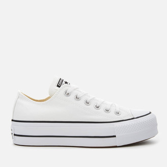 Converse Chuck Taylor All Star Lift Ox Trainers - White/Black/White