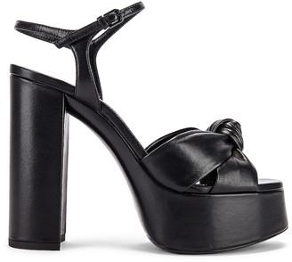 Saint Laurent Bianca Platform Sandals in Black   FWRD