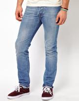 Paul Smith Drainpipe Jeans in Lightwash Denim