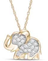 Zales 1/10 CT. T.W. Diamond Elephant Pendant in 10K Gold