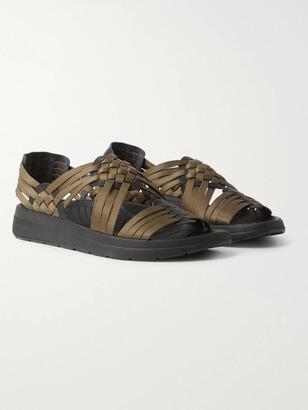 Malibu Canyon Woven Nylon-Webbing And Faux Leather Sandals