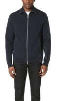 Theory Neofil Kampers Tech Cotton Zip Sweater