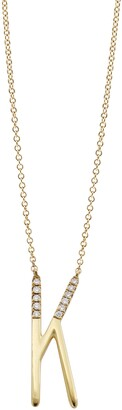 Bony Levy Diamond Initial Pendant Necklace