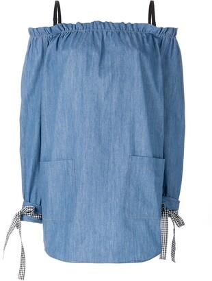 Miu Miu Off-The-Shoulder Dress
