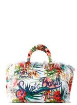 MC2 Saint Barth St.barth Big Canvas Floral Beach Bag