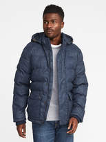 Old Navy Quilted Chambray Detachable-Hood Anorak for Men