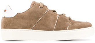 Ermenegildo Zegna XXX leather detail low-top sneakers