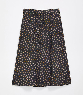 LOFT Petite Tie Waist Midi Skirt