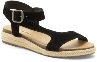 Lucky Brand Gabrien Leather Espadrille Sandal