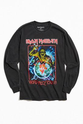 Urban Outfitters Iron Maiden World Piece Long Sleeve Tee
